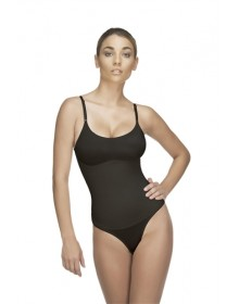 Lea 109 Thong (Black/Nude) **EXTRA FIRM COMPRESSION**